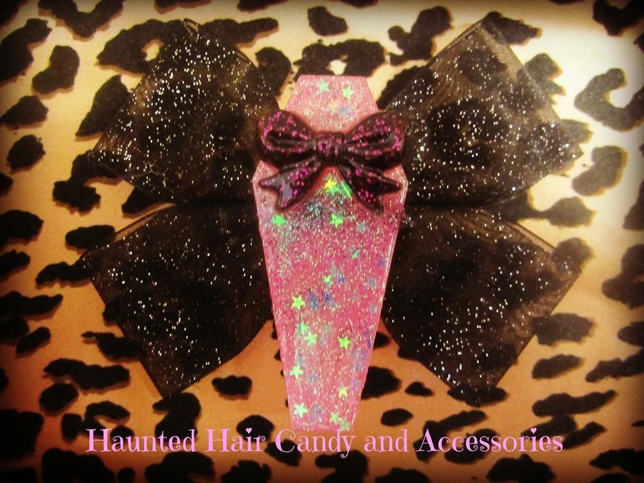 coffin hair bow