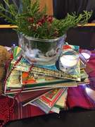 Holiday Centerpiece with Children's Books