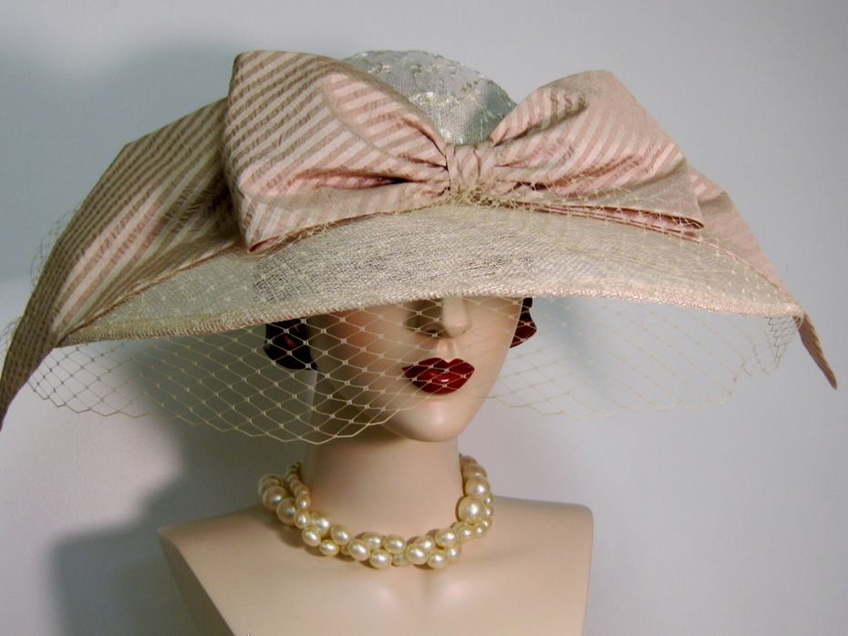 Edwardian Inspired Wide Brimmed Hat