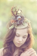 Heavenly Song Bird Fascinator by Ruby & Cordelia's Millinery