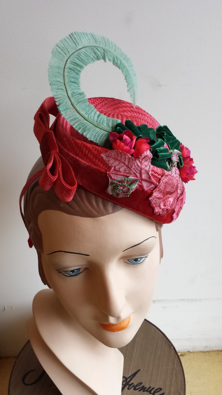 Bespoke headpiece by Ruby & Leo Millinery
