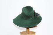 Hunter Green Percher  1940 Style Women Hat Millinery