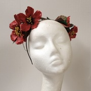 Leather flowers headnand