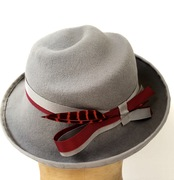 Silver Grey Deco Hat