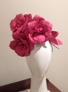 Handcrafted leather floral headpiece