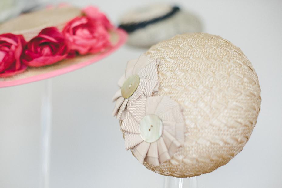 Straw Button Hat
