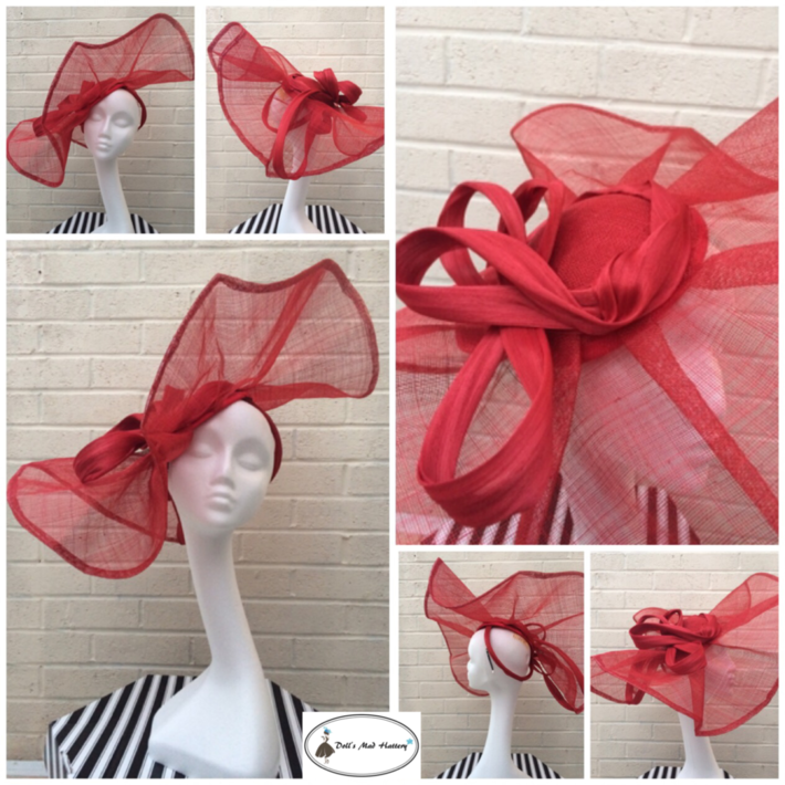 Doll's Mad Hattery red headpiece