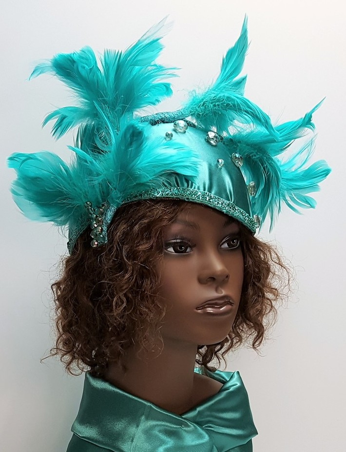 Peacock Green Cocktail Hat