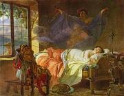 Karl Bryullov - A Dream of a Girl Before Sunrise 1830 - 1833, Pushkin Museum