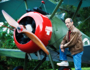 Author with Sopwith Camel
