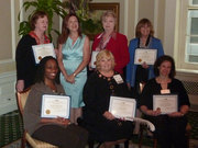 Rachel Madorsky with members of IWPA -- recipientthe of the 2012 Mate E. Palmer Communications Contest Awards