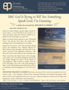 Shh! God Is Trying To Tell You Something Flyer