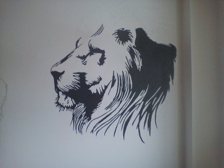 lejon - min fondvägg