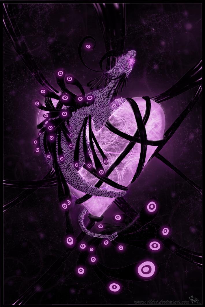 Glowing love dragon