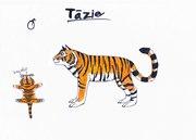 Tiger karaktär-Tazie