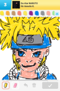 Naruto, draw something, fulaste jag sett!!!