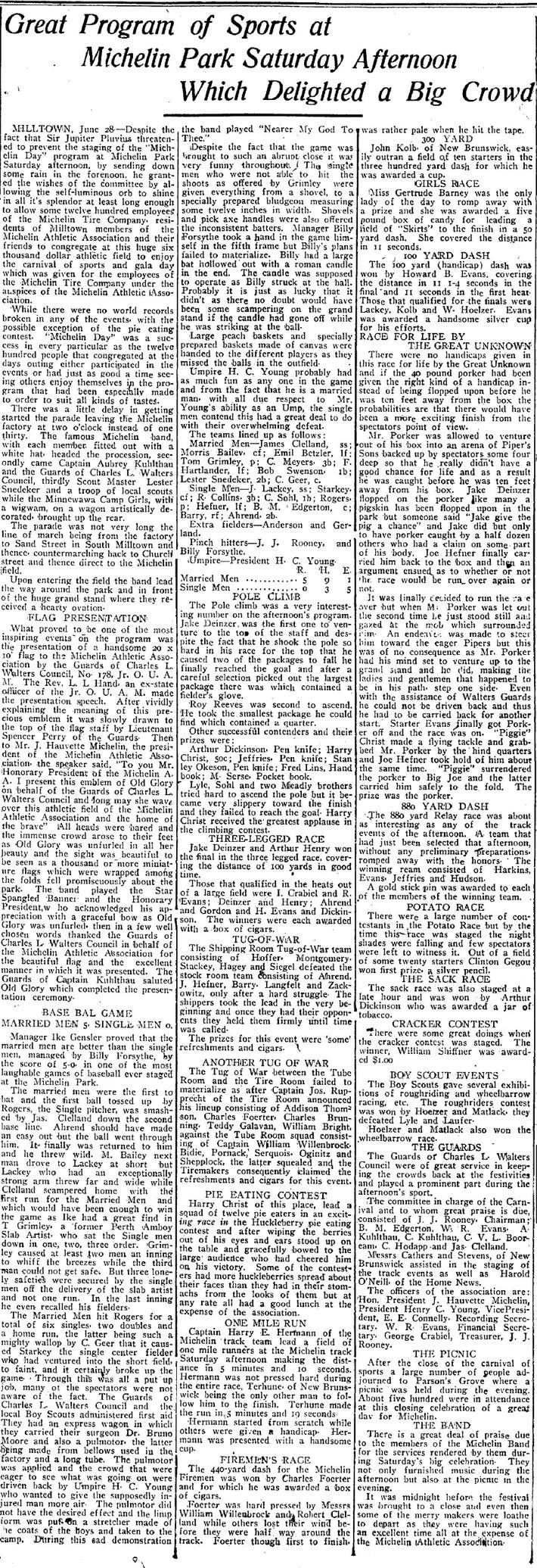 1915 Michelin Field Day