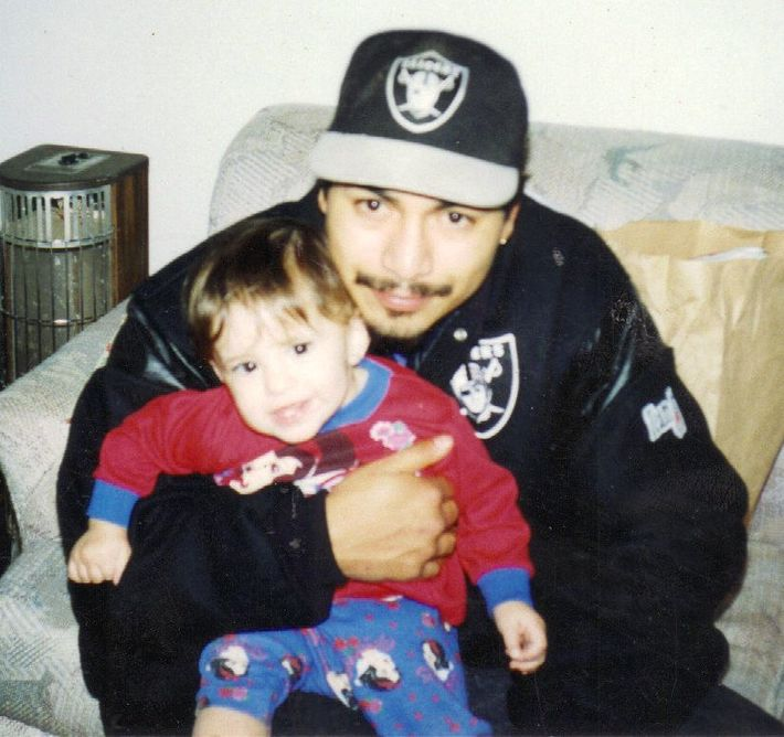 My son Johnny with my granddaughter Alexis