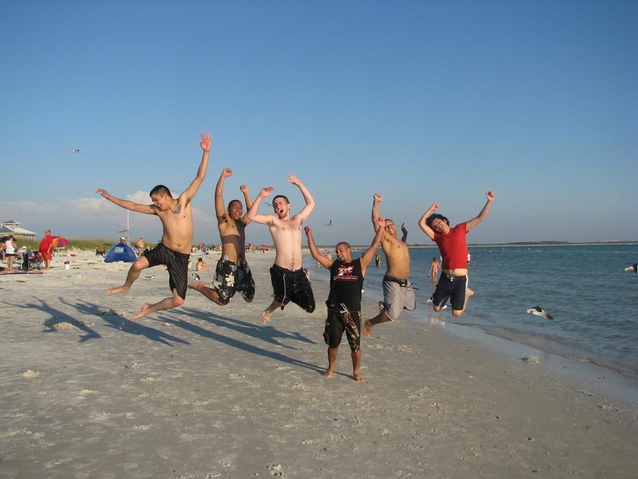 Derek & Friends at the beach