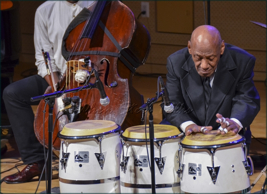 """Candido (Cuba), Afro-Cuban drums - from: """"Randy Weston presents Symposium in the Drum - From Africa to the New World"""""""