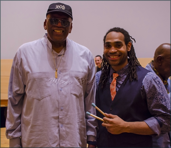 "Legendary American jazz standout pianist and composer Randy Weston with panist Khuent Rose - from: ""Randy Weston presents Symposium in the Drum - From Africa to the New World"""