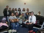 Grupo de tutores que acompañaban la delegación