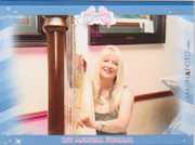 Harpist for Angels Dream Event