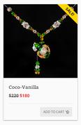 """""""coco_vanilla"""" Our therapeutic essential oil jewelry"""