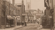 Thames Street loking east in Edwardian times - Constables on the right. Courtesy The John Sheaf Collection.