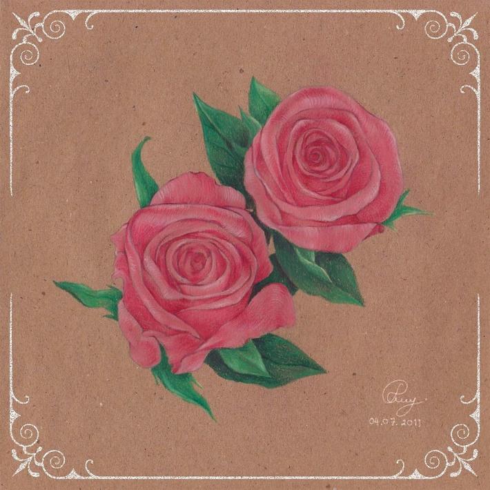 Vintage Flower : Rose 2