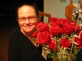 Me with Anniversary Roses