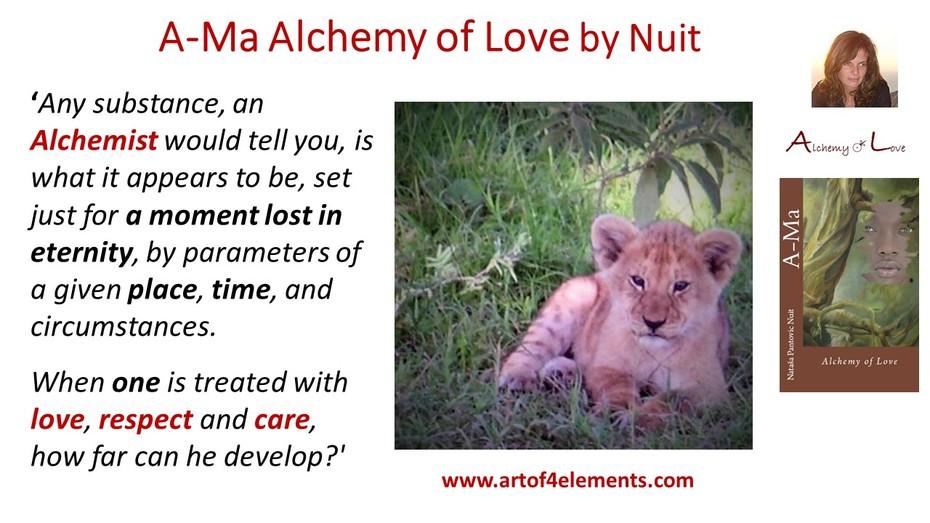 ama alchemy evolution quote from Ama Alchemy of Love by Nataša Pantović Nuit