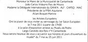 invitation au Portugal