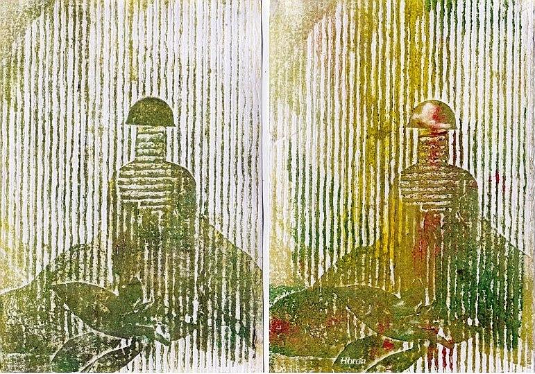 flacons derrière les persiennes