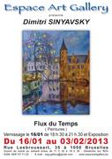 """Exposition """"Flux du temps"""" de SINYAVSKY Dimitri à Bruxelles"""
