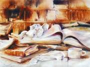 """""""La pause de l'étudiant"""".2014.57x42.Corinne Izquierdo."""