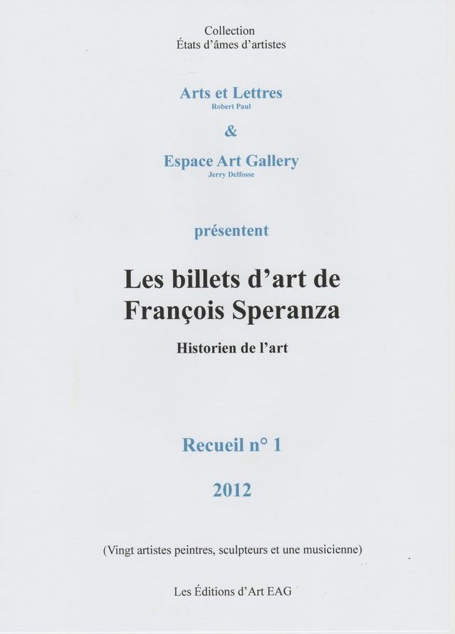 Recueil n° 1 des Billets de François Speranza