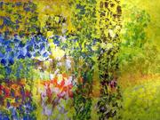 301   Paysage champêtre 2 - Acrylique sur toile - 130x97 cm