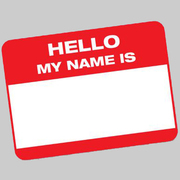 -  Hello  -  My Name Is...