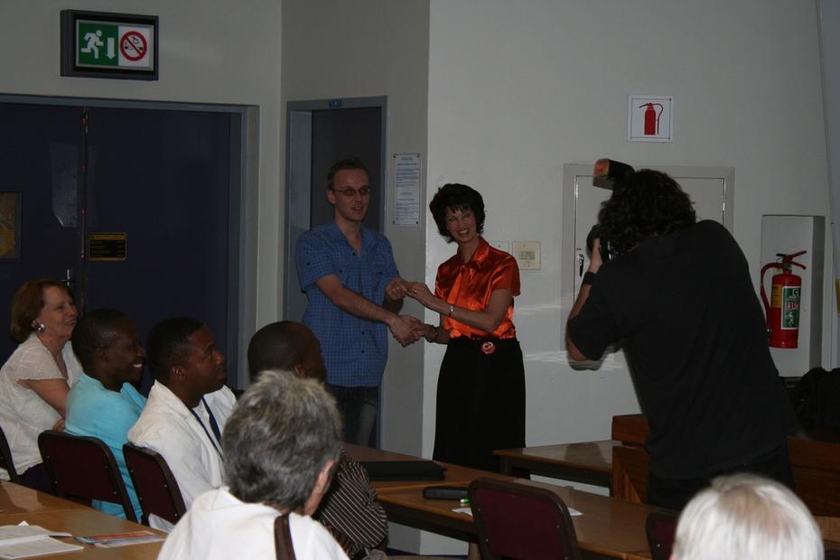 Kosie Eloff receives his @mire prize