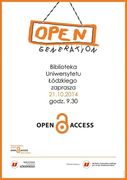 Open Access Week at University of Lodz Library, 2014