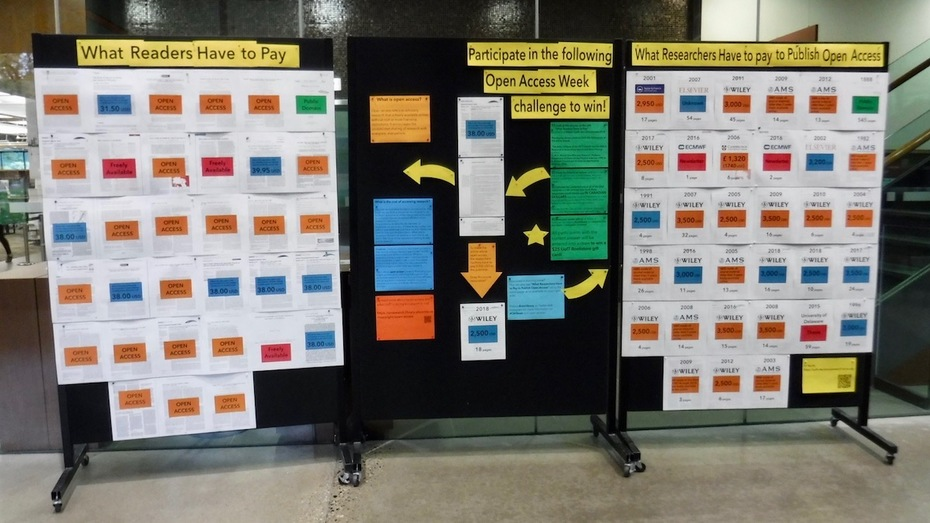Open Access 2018 Display at the UTM Library