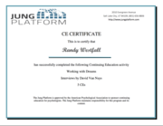CE Certificate - Working with Dreams