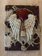 Angel wings and heart @