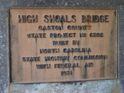 The sign for the old bridge