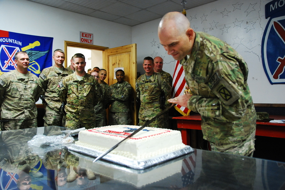 Cutting the cake after promotion to SGM