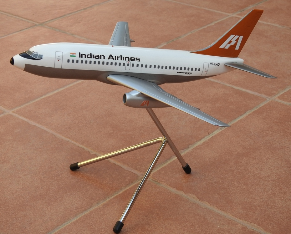 Space Models 1:100 Indian Airlines B737-200