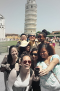 Selfies at the Leaning Tower of Pisa!