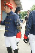 Napoleonian army inspired fencing outfits