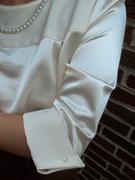 40's Satin Blouse Close-up